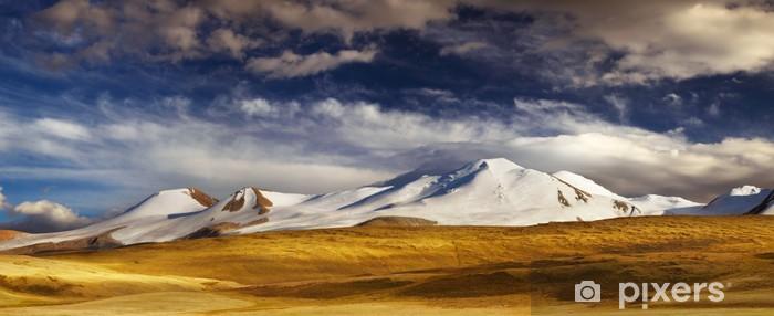 Mountain landscape, Plateau Ukok Pixerstick Sticker - Mountains