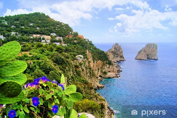 Famous Faraglioni rocks off the island of Capri, Italy Pixerstick Sticker - Europe