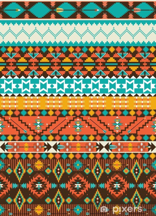 Pixerstick Sticker Naadloze navajo geometrisch patroon -