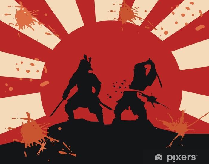 Samurai Blood Fight Epic Martial Art Wall Mural Pixers We