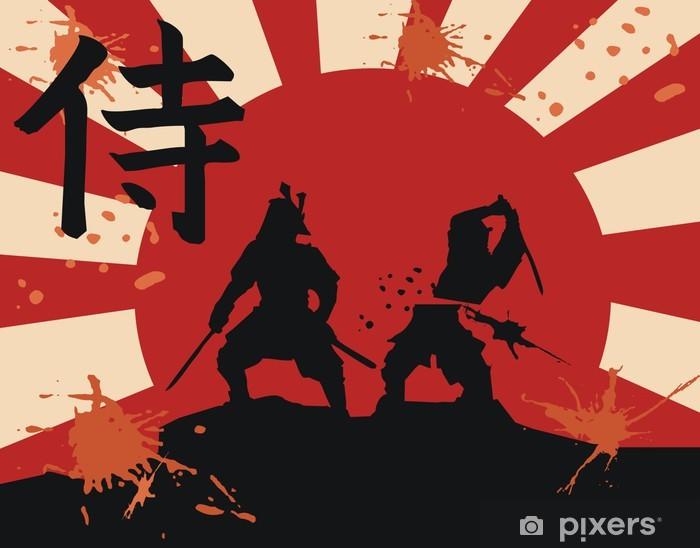 Sticker Pixerstick Japon samurai - Styles