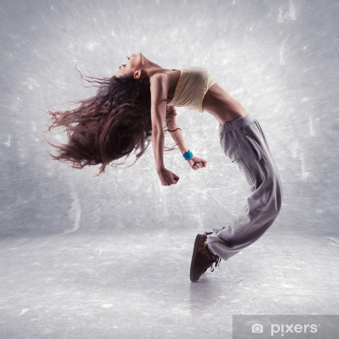 Fototapet av Vinyl Ung, kvinna, hip hop dansare - Teman