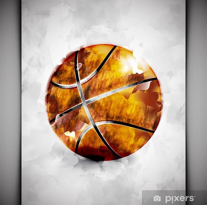 Basketball ball watercolor Vinyl Wall Mural - Basketball