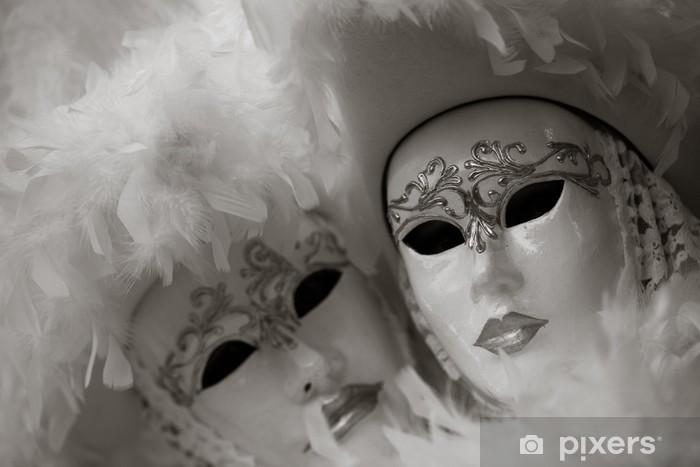 Vinilo Pixerstick Máscara en el carnaval, la Piazza San Marco, Venecia, Italia - Vacaciones