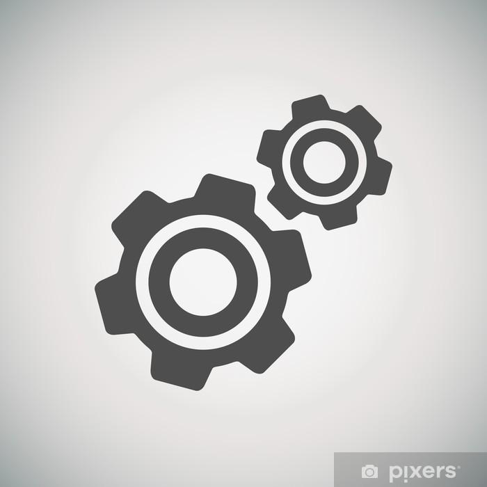 Poster Crémaillère et l'icône développement - Signes et symboles