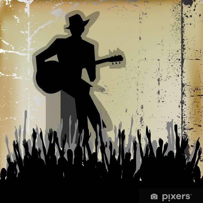 Fototapeta winylowa Koncert Guitar Blues, Vector plakat lub ulotka dla Acoustic Gig - Rozrywka