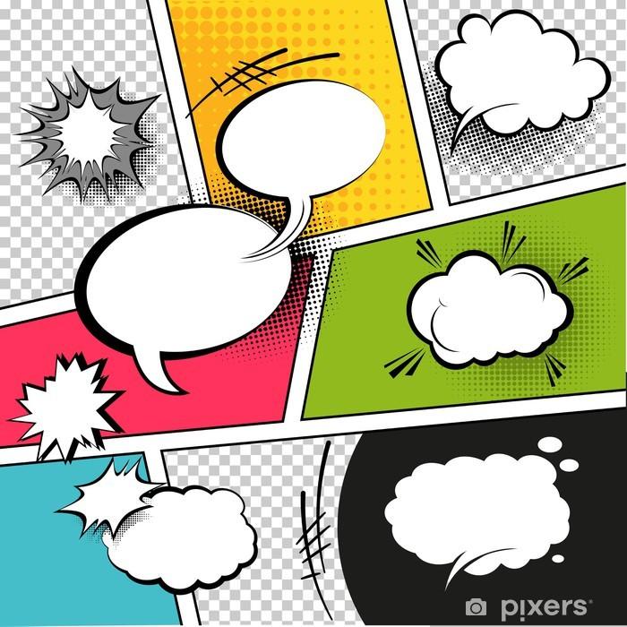 Papier peint vinyle Comic Speech Bubbles Strip - Thèmes