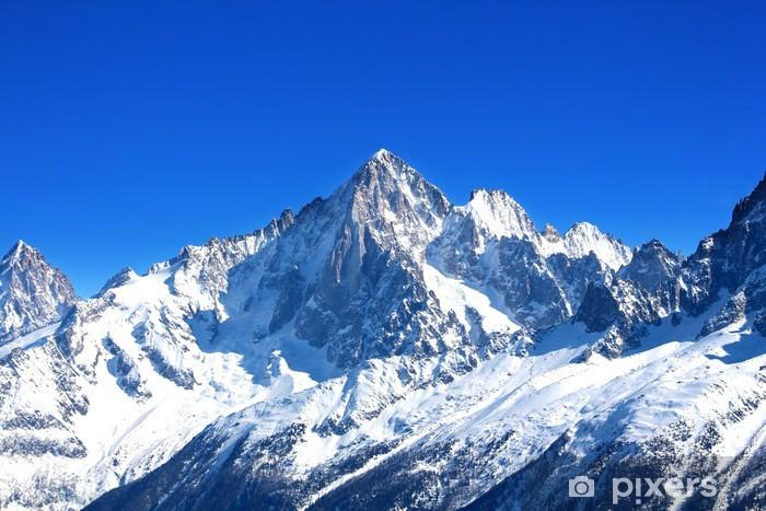 Fototapeta winylowa Aiguille Verte - Mont Blanc (Haute Savoie) - Style