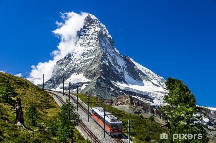 Fototapeta winylowa Gornergrat pociąg i Matterhorn. Szwajcaria - Europa