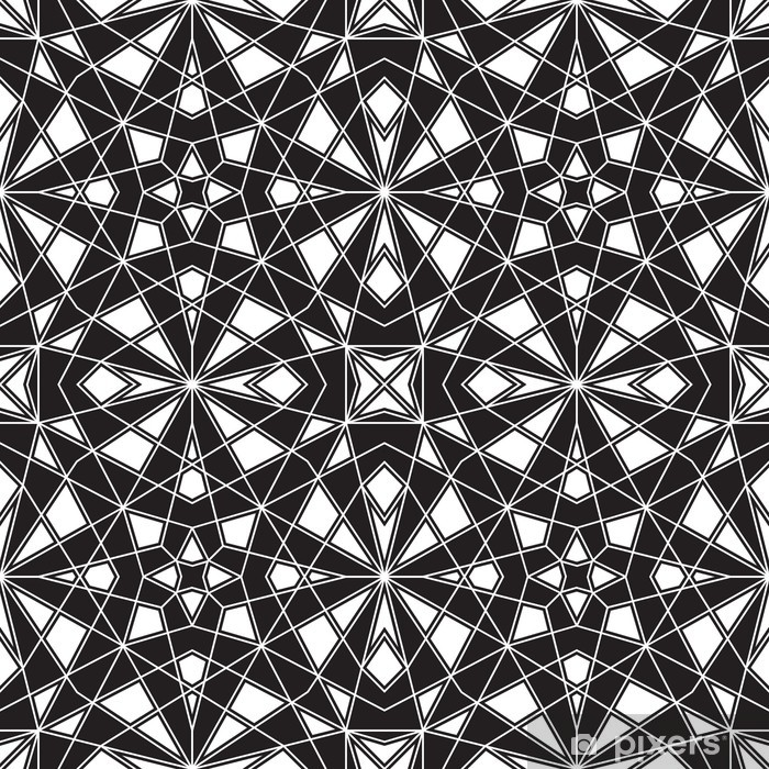 Nálepka Pixerstick Černá a bílá geometrické bezproblémové vzor - Pozadí