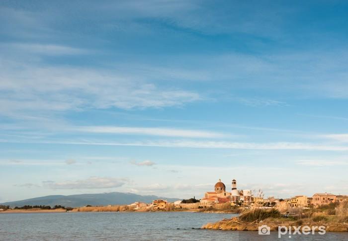 Nálepka Pixerstick Sardegna, Cabras, Stagno e Chiesa di Santa Maria Assunta - Evropa