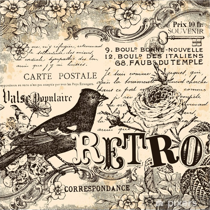 Poster Retro Background - Styles