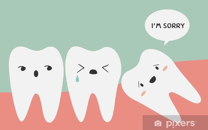 Naklejka Pixerstick Wpływ ząb - Zdrowie i medycyna