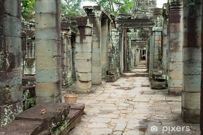 Naklejka Pixerstick Malowidła i rzeźby kamienne Angkor Wat w Kambodży - Azja