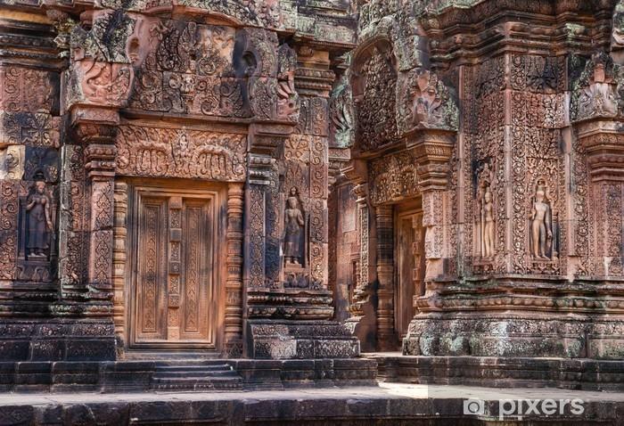 Naklejka Pixerstick Banteay Srei, Siem Reap, Kambodża - Azja