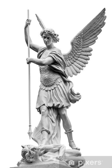 Nálepka Pixerstick Archanděl Michael Skolení ďábel - Náboženství