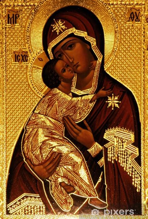 Pixerstick Sticker Een orthodoxe icoon van Maria, Vladimirskaya - Thema's
