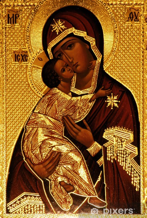 An orthodox icon of Mary, Vladimirskaya Vinyl Wall Mural - Themes