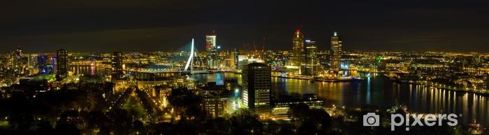 Vinyl Fotobehang Rotterdam bij nacht - Thema's