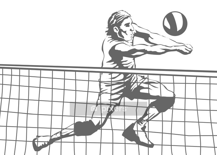 Vinilo para Pared Jugador de voleibol - Voleibol