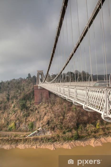 Fototapeta winylowa Suspension Bridge Cliftom - Infrastruktura