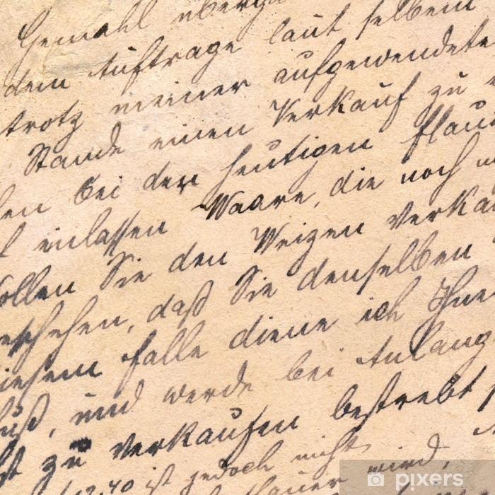 Old handwriting - circa 1881 Poster - Signs and Symbols