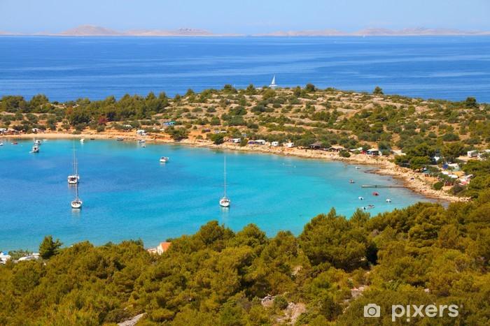 Sticker Pixerstick Croatie - Mer Adriatique sur l'île de Murter - Thèmes