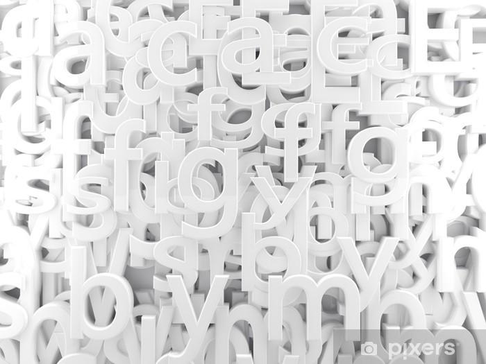 Carta Da Parati Lettere Alfabeto.Carta Da Parati Sfondo Astratto Con Lettere Bianche E Alfabeto