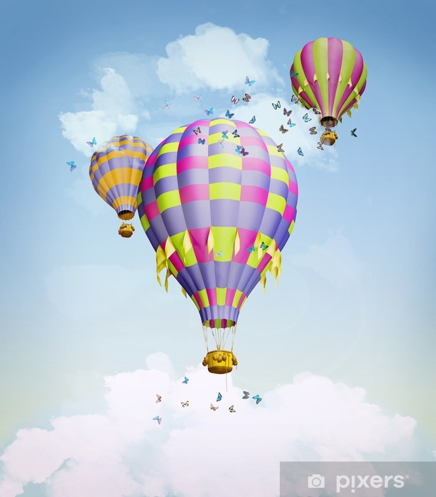 Air balloons in the sky Vinyl Wall Mural - Other Feelings