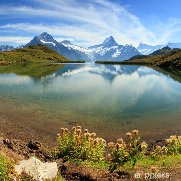 Swiss mountain Alps lake - Grindelwald Pixerstick Sticker - Themes