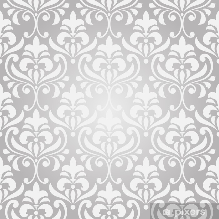 Vector Seamless Vintage Floral Pattern On Gradient Background Vinyl Wall  Mural   Textures