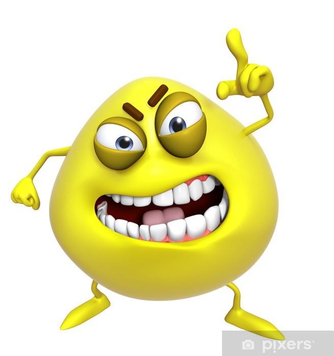 Adesivo 3d cartone animato mostro giallo u2022 pixers® viviamo per il