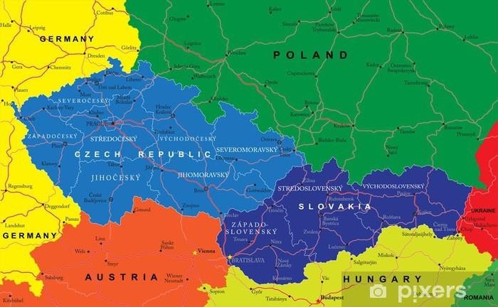 Fototapeta Czechy I Slowacja Mapa Pixers Zyjemy By Zmieniac