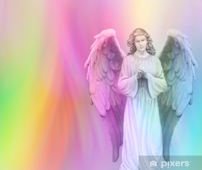 Rainbow Angel 88 Framed Poster - Themes
