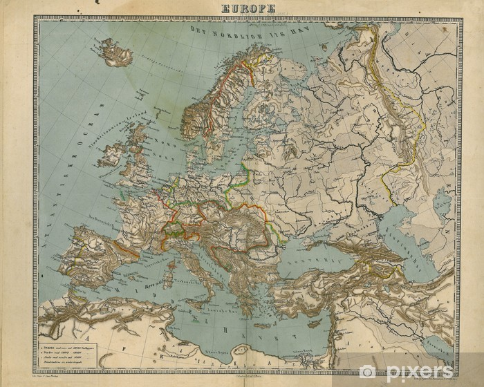 Vanha Kartta Euroopassa Tapetti Pixers Elamme Muutoksille