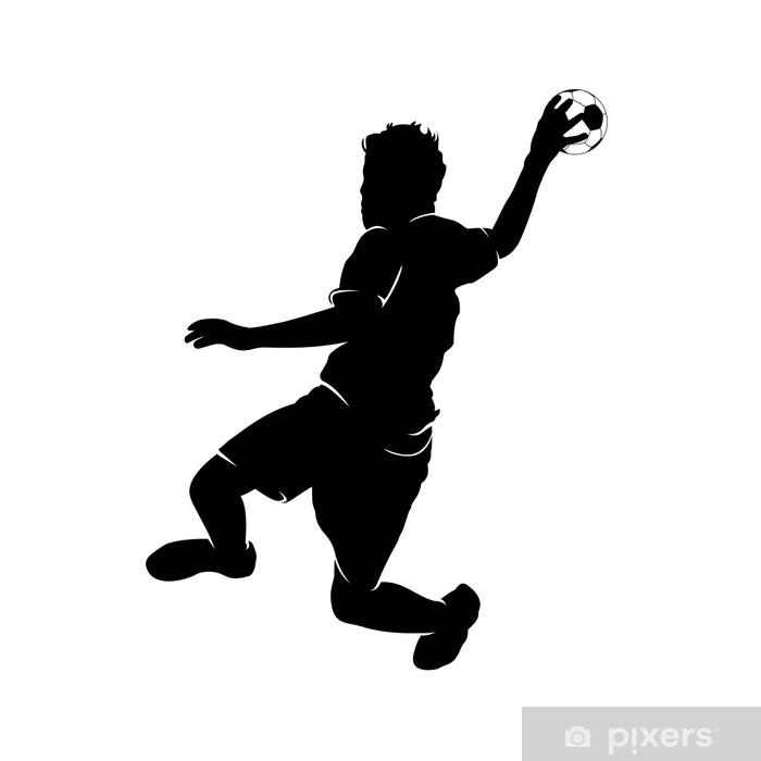 Dørklistremerke Handballer - Lagidrett