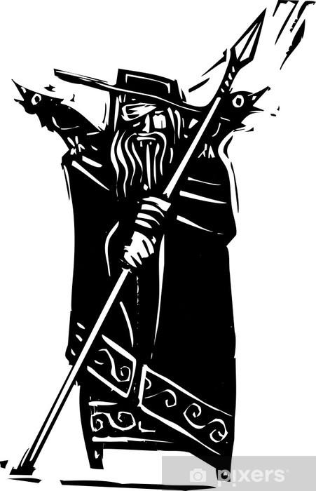 Naklejka Pixerstick Odin Boga Nordyckiej - Mężczyźni