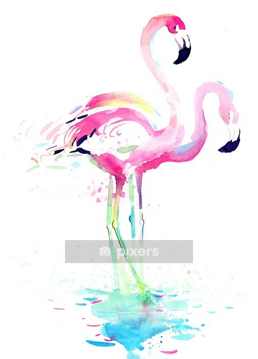 Sticker mural Flamant - Animaux