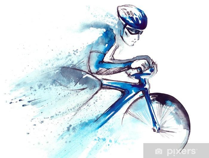 Papier peint vinyle Coureur cycliste - Matchs et compétition