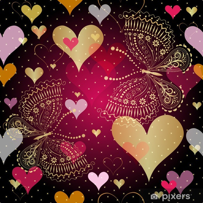 Plakát Seamless valentine vzor - Mezinárodní svátky