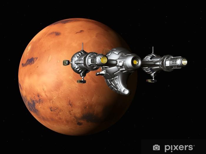 Naklejka Pixerstick Lot na Marsa - Planety