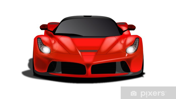 Naklejka Pixerstick Sports Car Red Metallic - Naklejki na ścianę