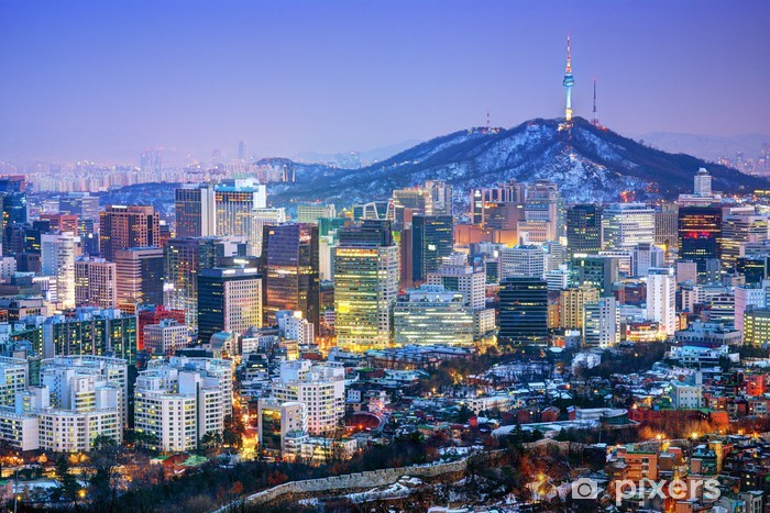 Naklejka Pixerstick Miasto Seulu w Korei - Seul