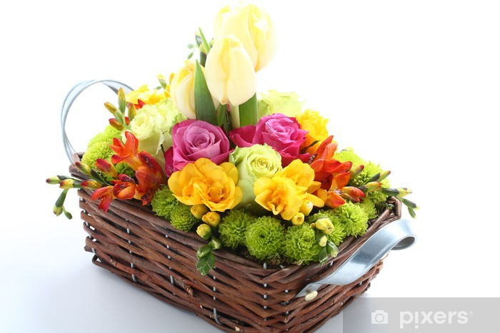Fotomural Estándar Cesta de flores - Flores