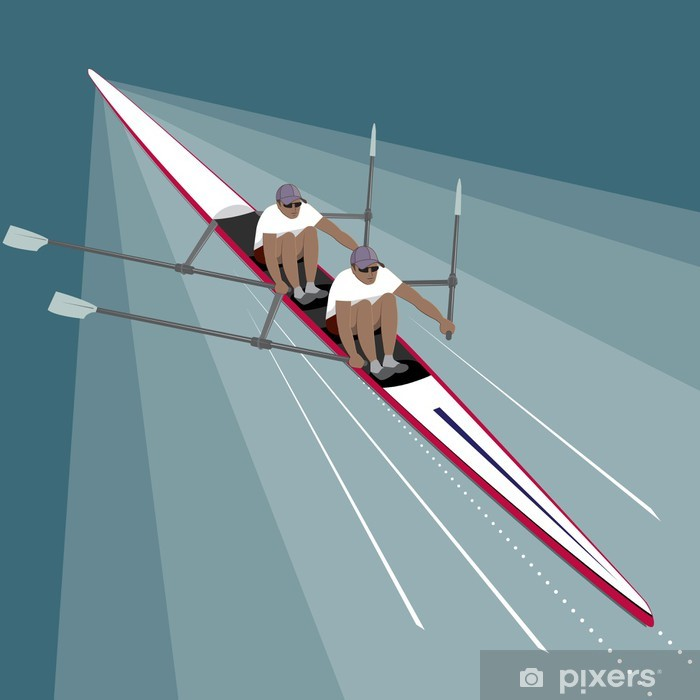 Fototapeta winylowa Wioślarstwo Teamwork Sport - Sukces i osiągnięcia