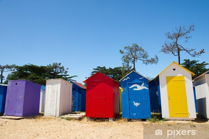Aufkleber Strandhütten Auf Der Insel Oleron In Frankreich Pixerstick