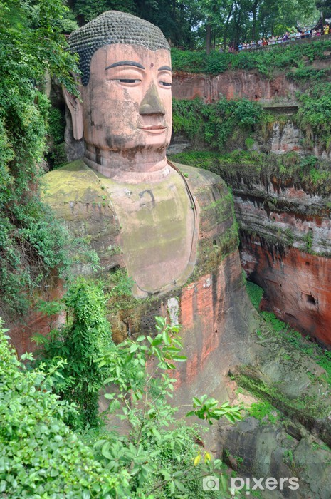 Pixerstick Aufkleber Großer Buddha von Leshan, UNESCO-Weltkulturerbe, Sichuan, China - Asien