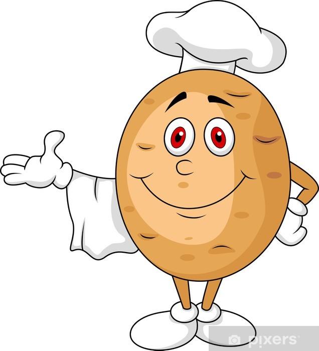 Fotomural Lindo Personaje De Dibujos Animados Chef De La Patata