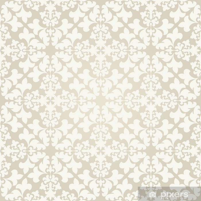 Seamless Vintage Wallpaper Pattern Abstract Floral Ornament Wall Mural Vinyl