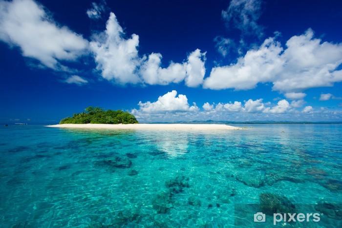 Vinilo Pixerstick Isla tropical paraíso vacacional - Palmeras